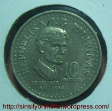 1975 10 SENTIMOS OBVERSE